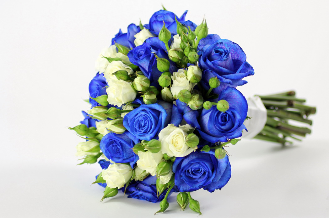wallpaper flowers bouquet blue - photo #3