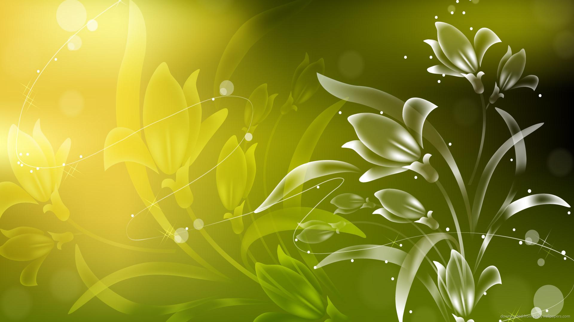 Green Flowers HD Free Wallpaper