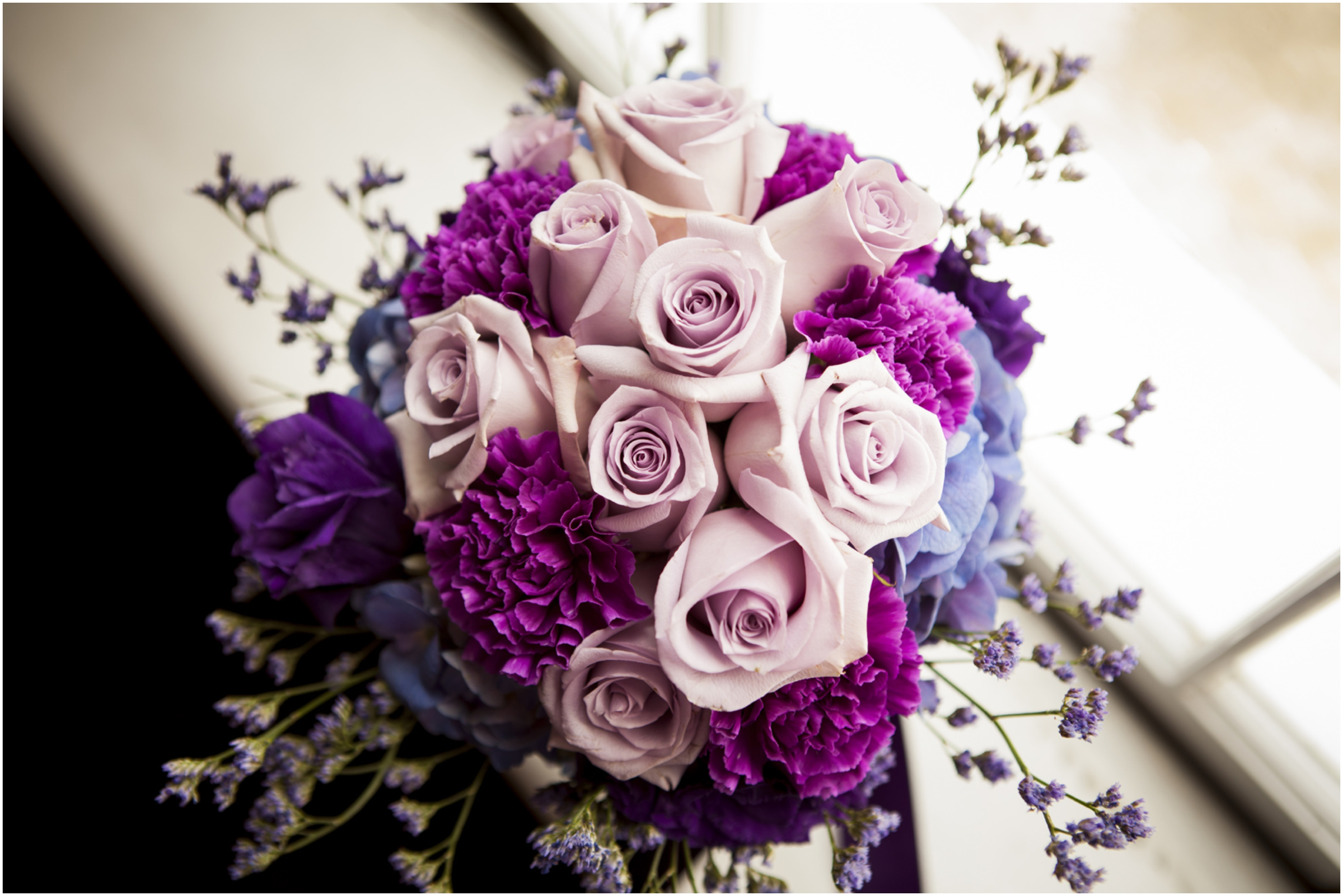 Purple Flowers For Wedding Widescreen Wallpaper