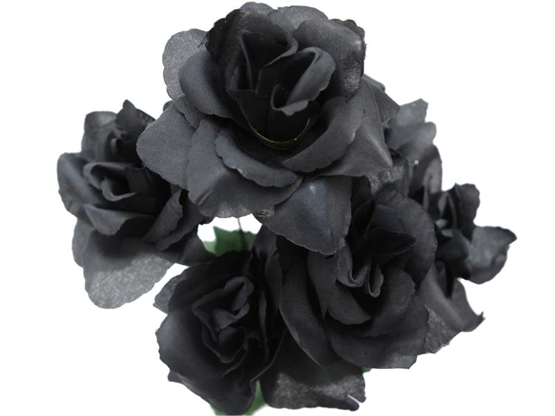 Real Black Flowers 33 Widescreen Wallpaper