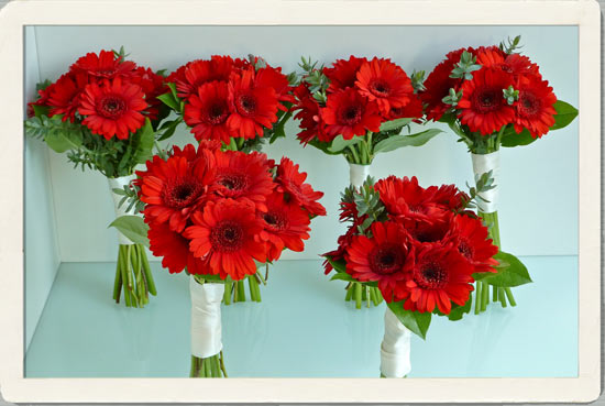 Red Flowers For Wedding HD Wallpaper