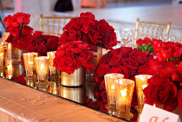 Red Flowers For Wedding Widescreen Wallpaper