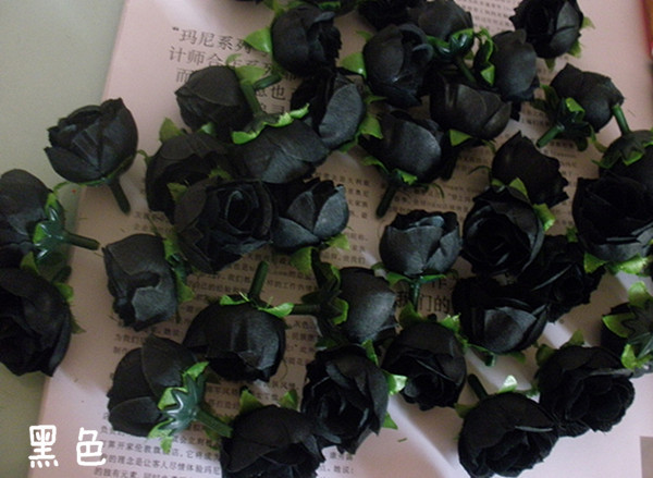 Black Flowers Artificial 30 Widescreen Wallpaper
