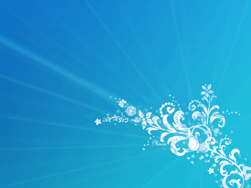 Blue Flowers Background 8 Desktop Wallpaper
