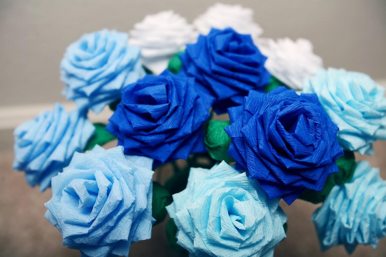Blue Flowers Bouquet 24 Desktop Wallpaper - HdFlowerWallpaper.com