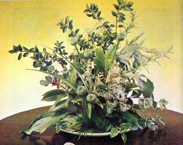 Green Flowers Arrangements 14 Desktop Background