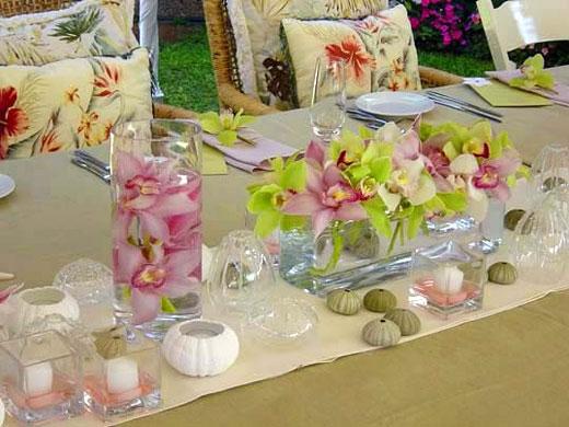 Green Flowers Arrangements 6 Widescreen Wallpaper
