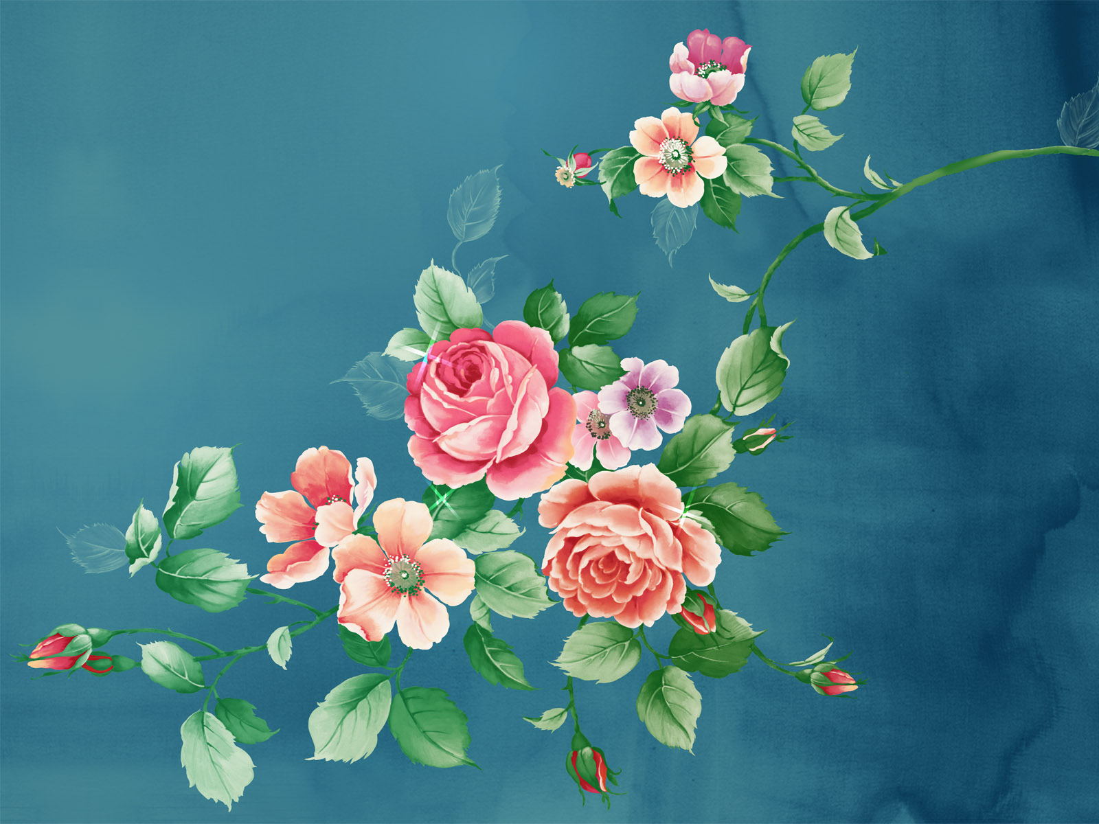 art flowers background wallpaper - photo #35