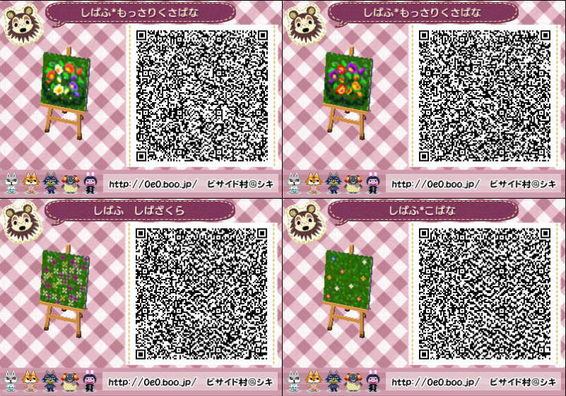 Pink flowers acnl 30 free wallpaper Boden qr codes animal crossing new leaf