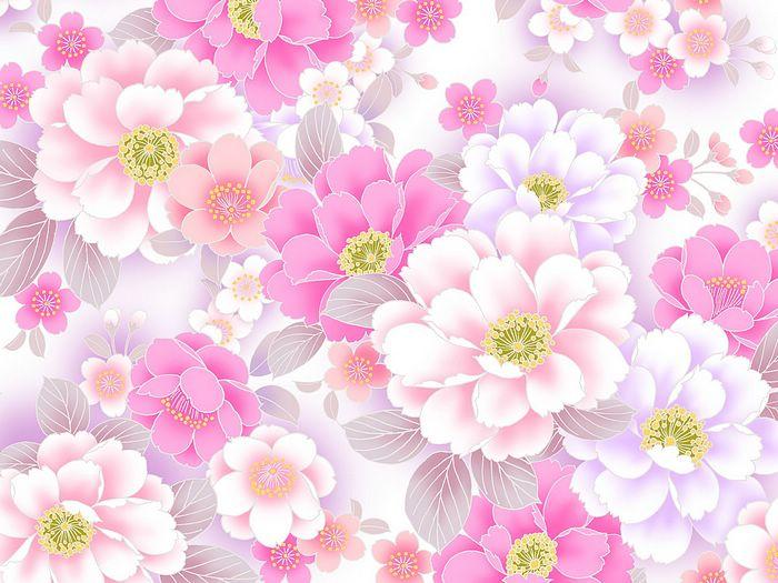 Pink Flowers Background HD Wallpaper