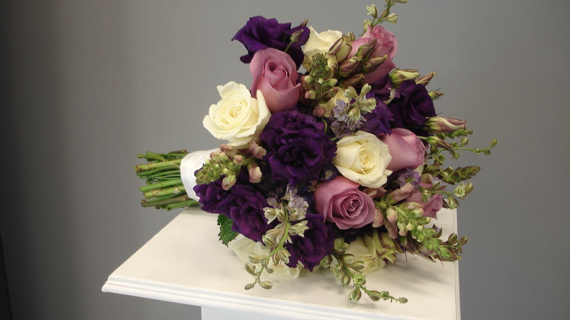 Purple Flowers Bouquet 17 Hd Wallpaper - HdFlowerWallpaper.com