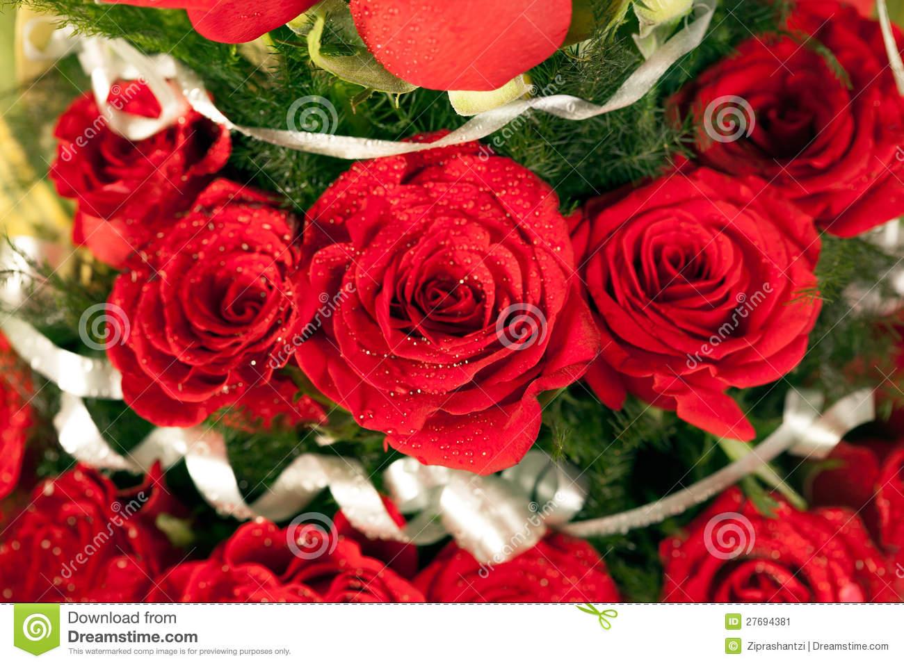Red Flowers Bouquet 19 Widescreen Wallpaper