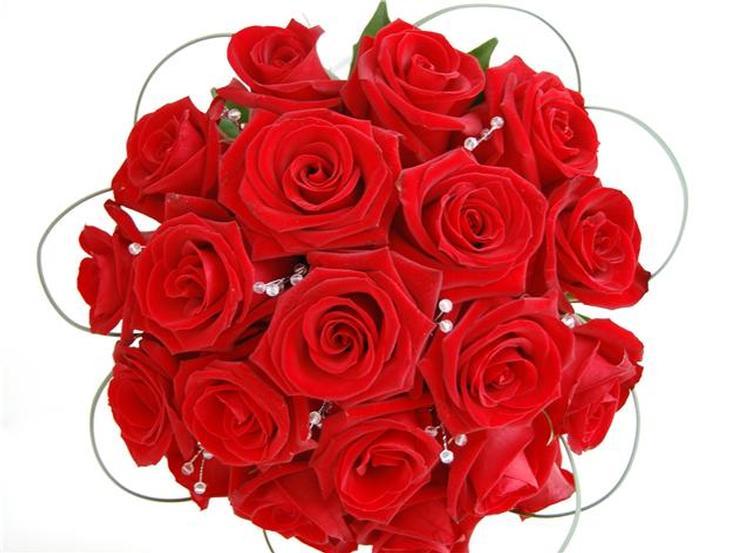 Red Flowers Bouquet 4 High Resolution Wallpaper