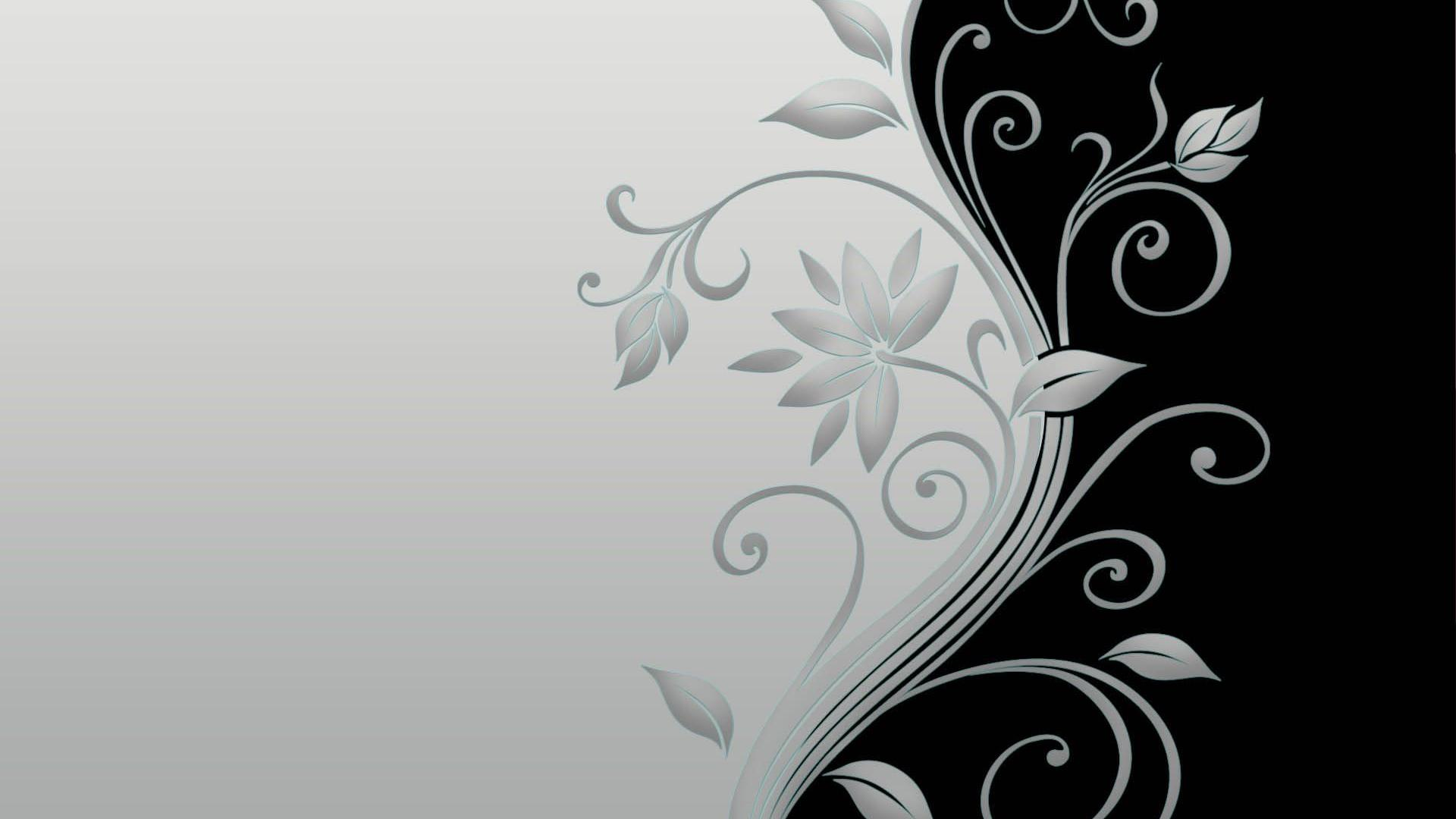 Black And White Floral Wallpaper 15 High Resolution Wallpaper