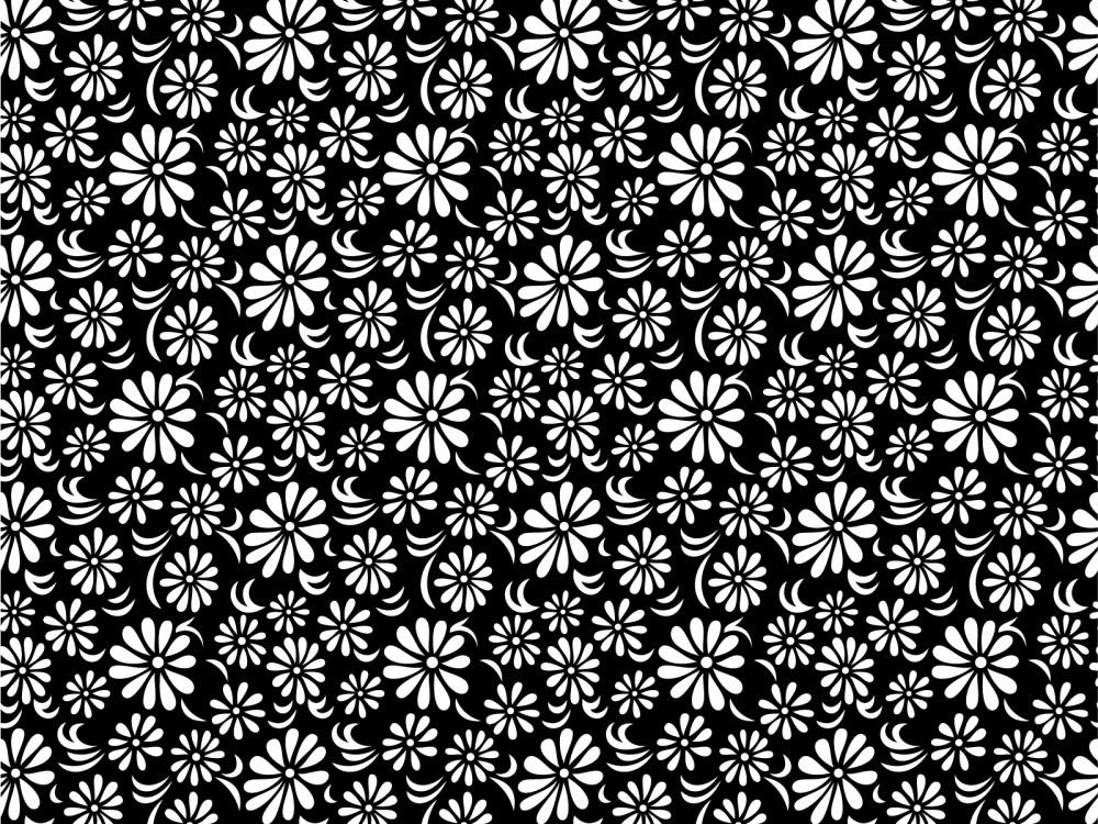 Black And White Floral Wallpaper 5 Background ...