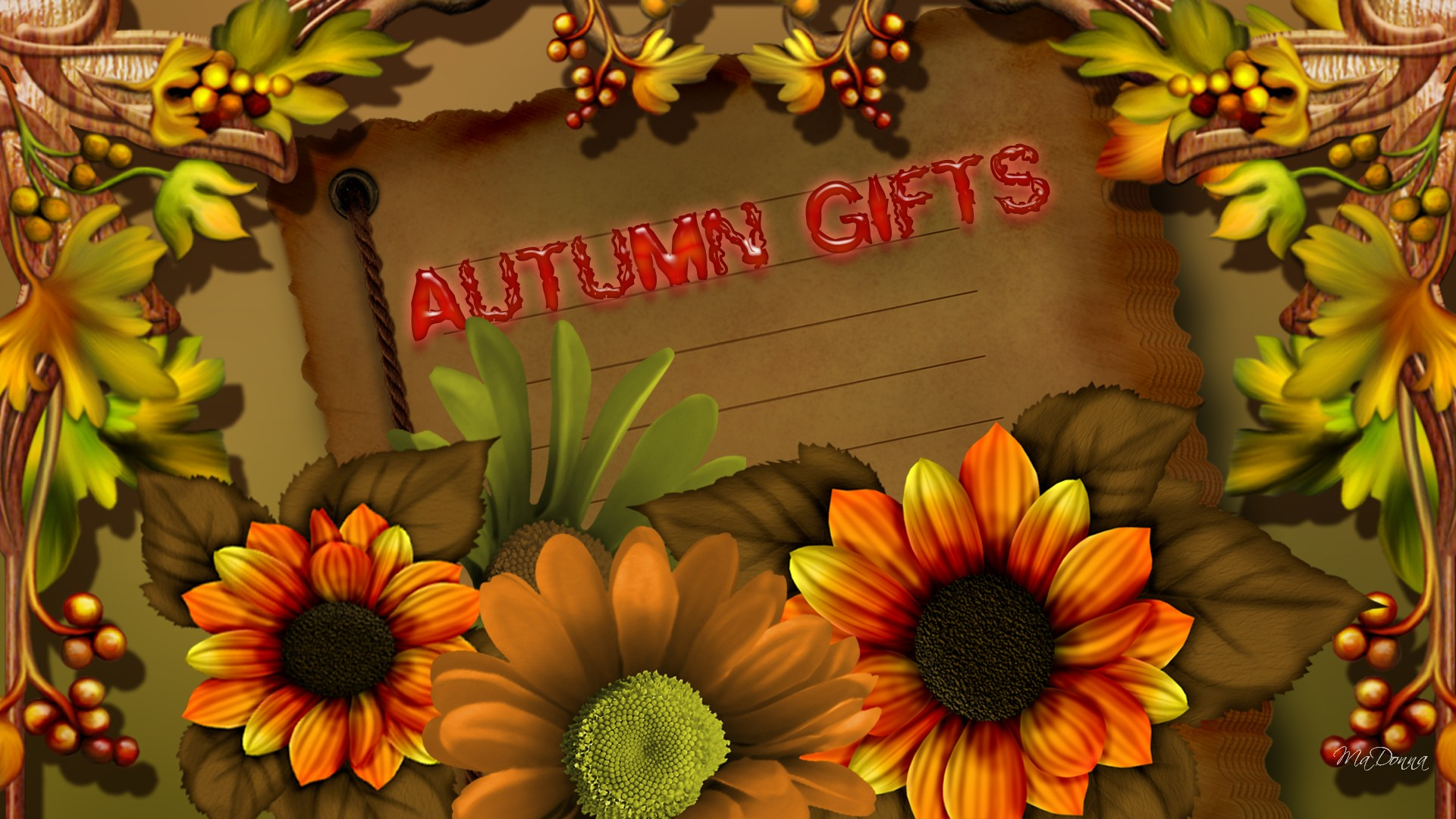 fall flowers wallpaper by - photo #20