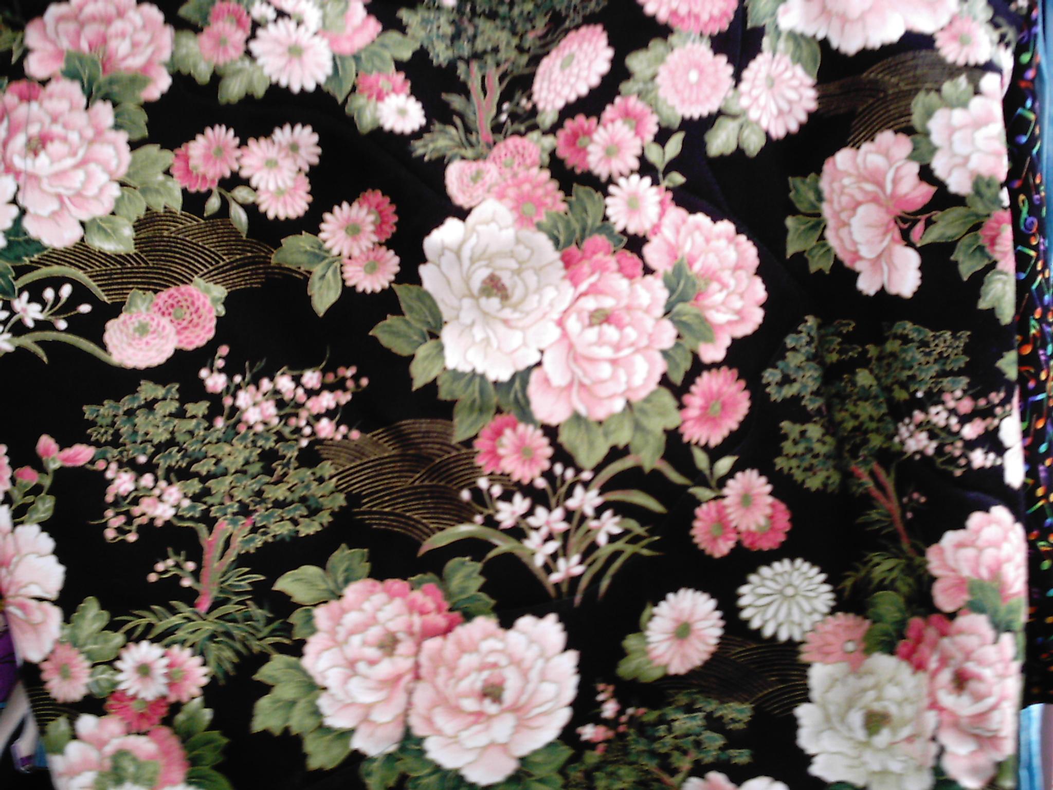 Large Print Black Flowers Wallpaper 32 Background