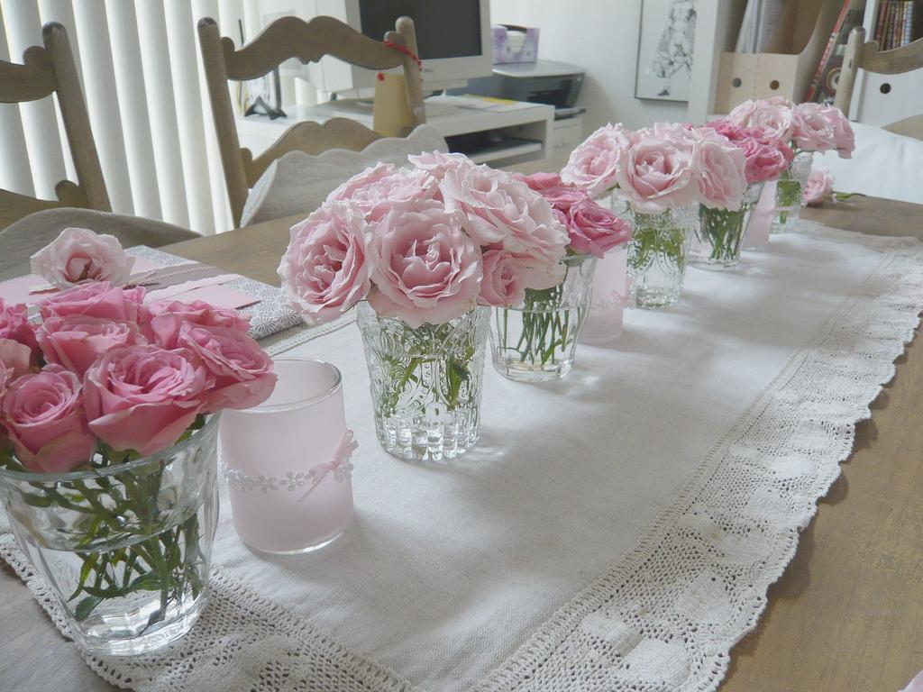 Pink Flowers Centerpieces 2 Wide Wallpaper Hdflowerwallpaper
