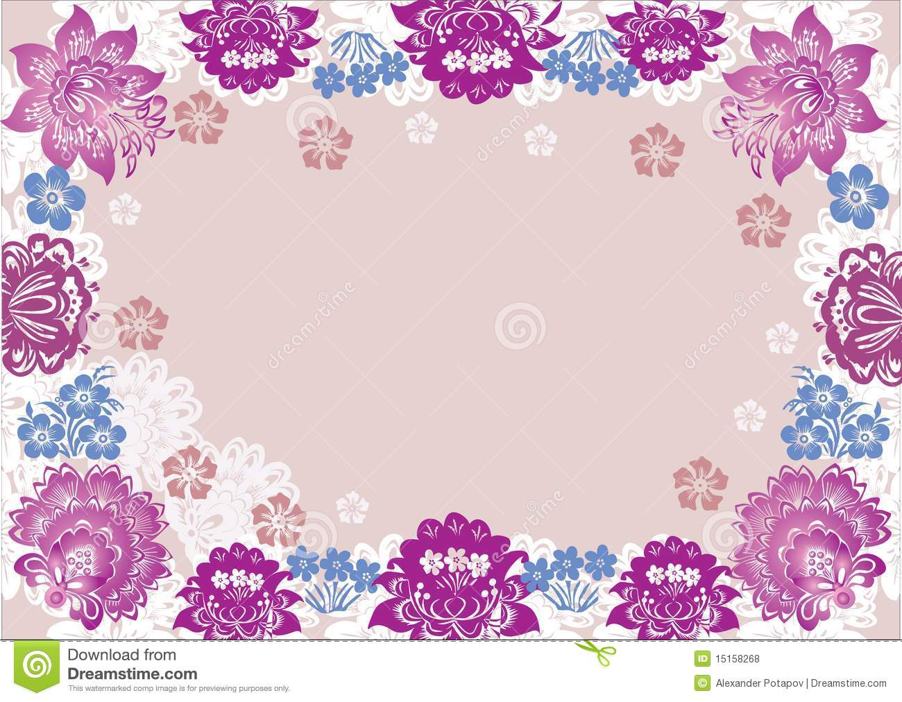 Pink Flowers Decoration  24 Background