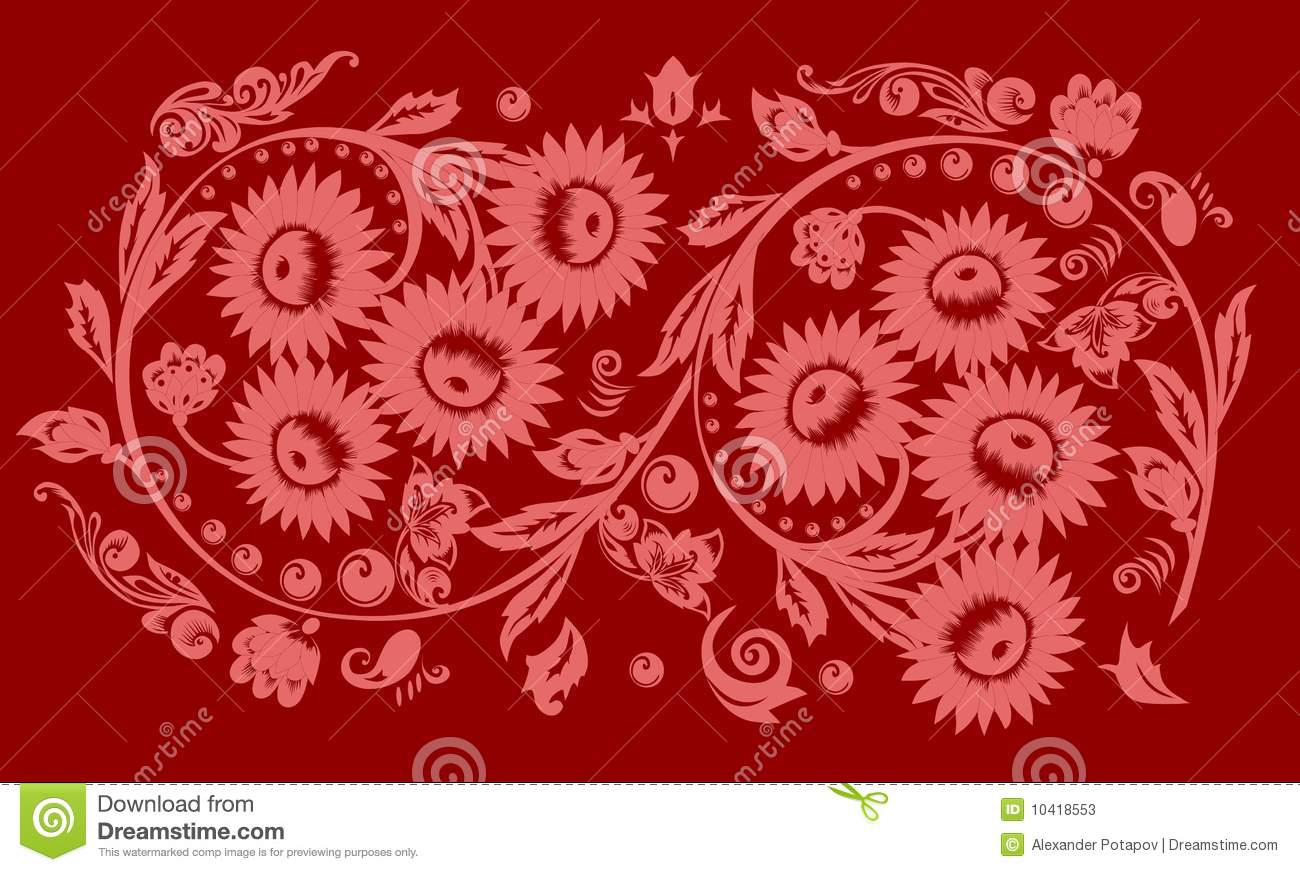 Pink Flowers Decoration  28 Background