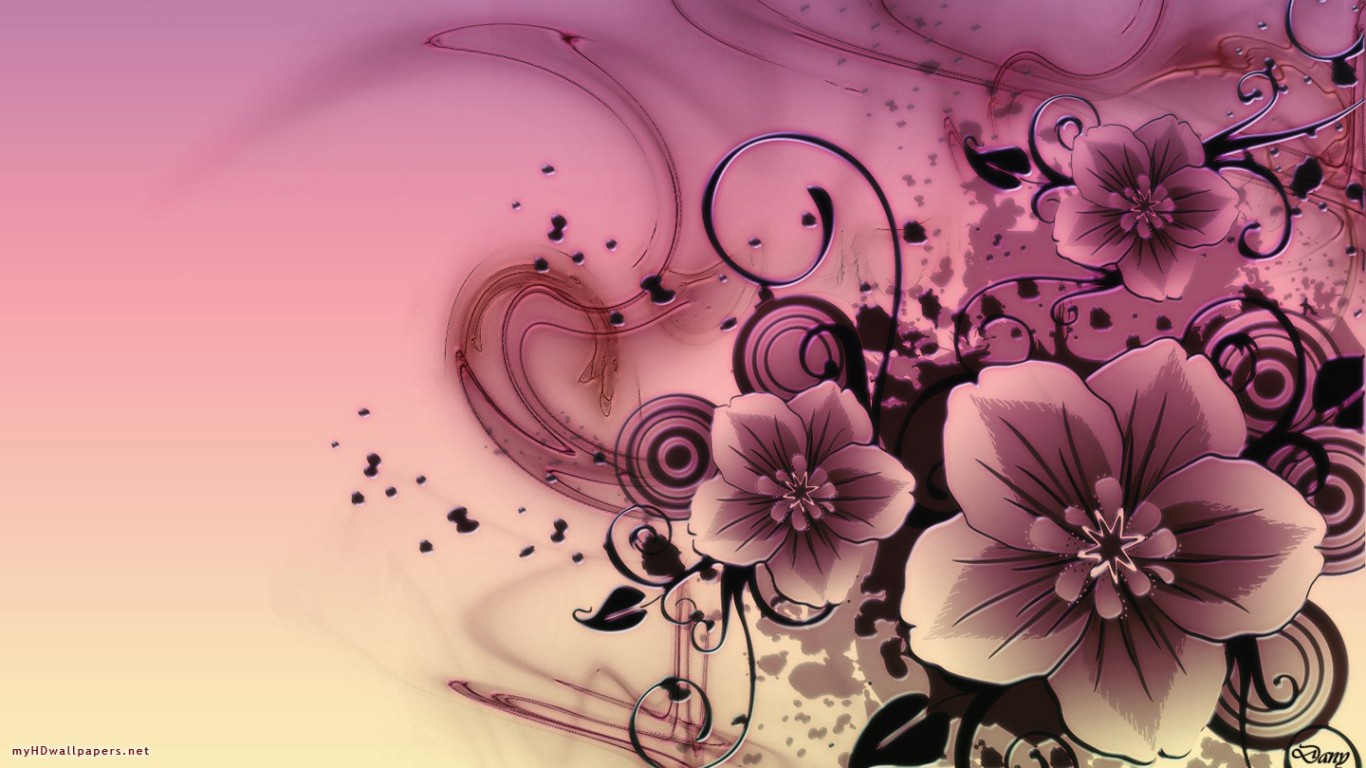 Pink flowers desktop wallpaper 21 background - Red flower desktop wallpaper ...