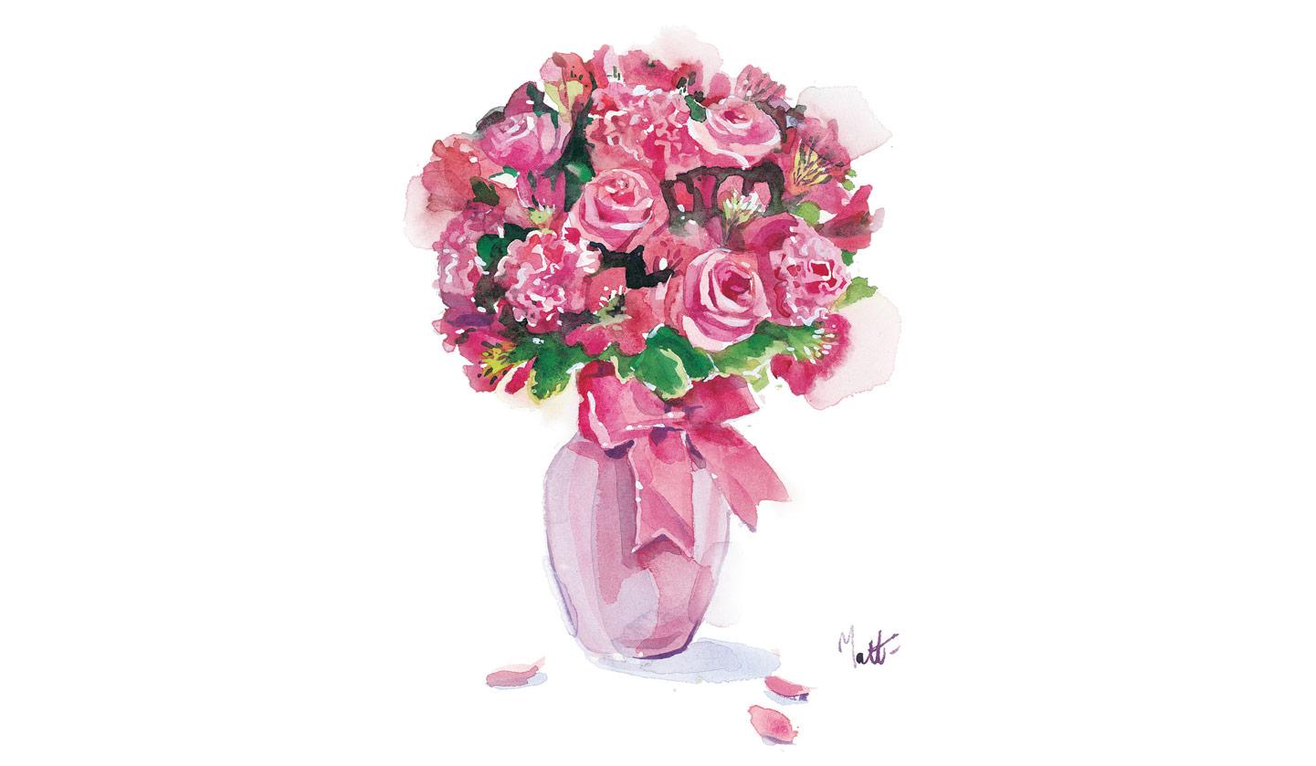 Flowers drawing hd images flowers healthy pink flowers drawing hd wallpaper mightylinksfo
