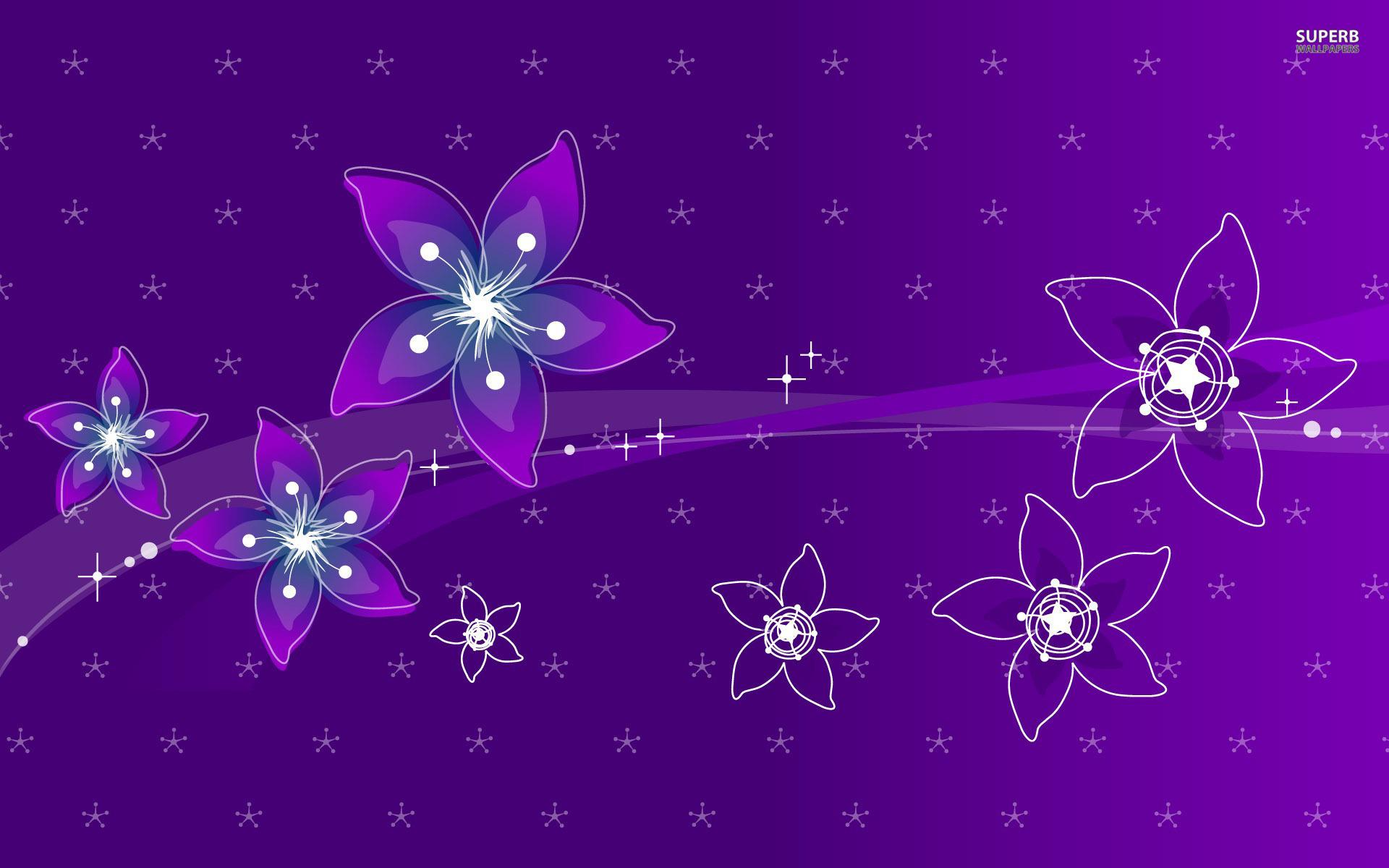 Purple floral wallpaper 17 cool wallpaper for Cool floral wallpaper