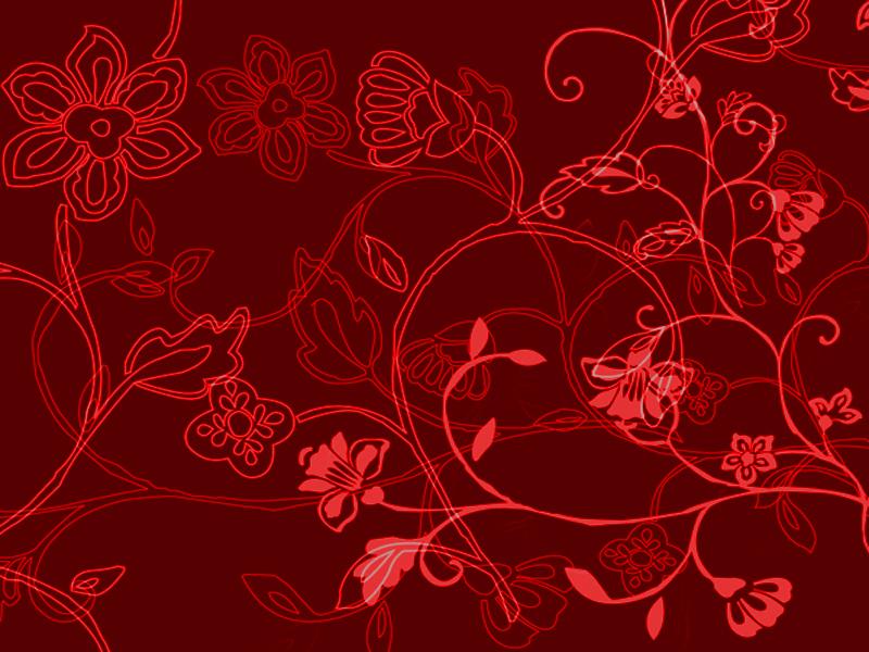 Red floral desktop wallpaper