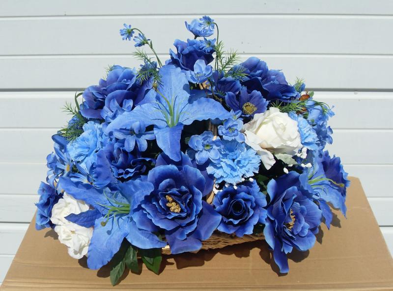 Blue flowers for floral arrangements background