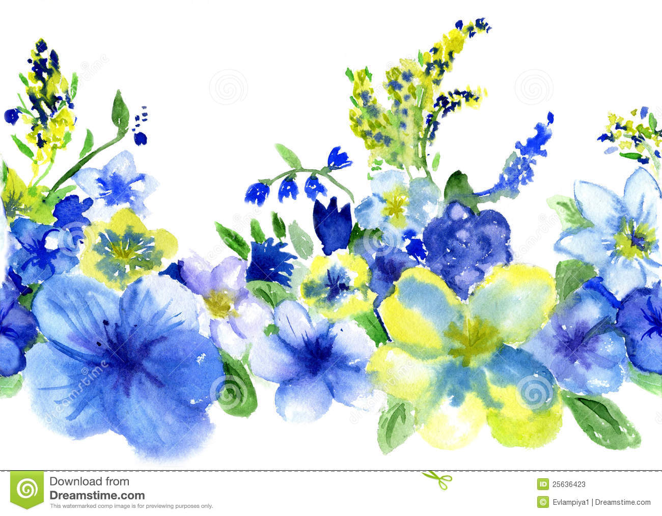 Blue Yellow Flowers 30 Widescreen Wallpaper Hdflowerwallpaper