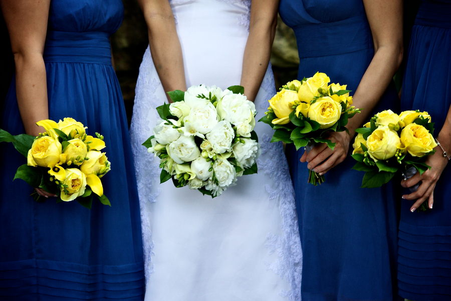 Blue Yellow Flowers Wedding 13 Background Wallpaper ...
