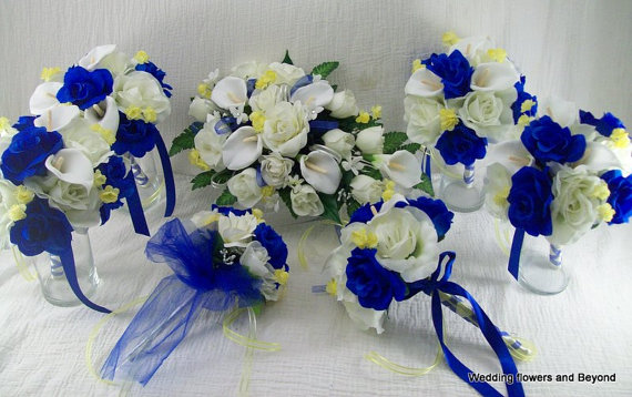 Blue Yellow Flowers Wedding 26 Background Wallpaper ...
