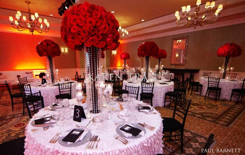 Red Wedding Centerpieces - Wedding Photography