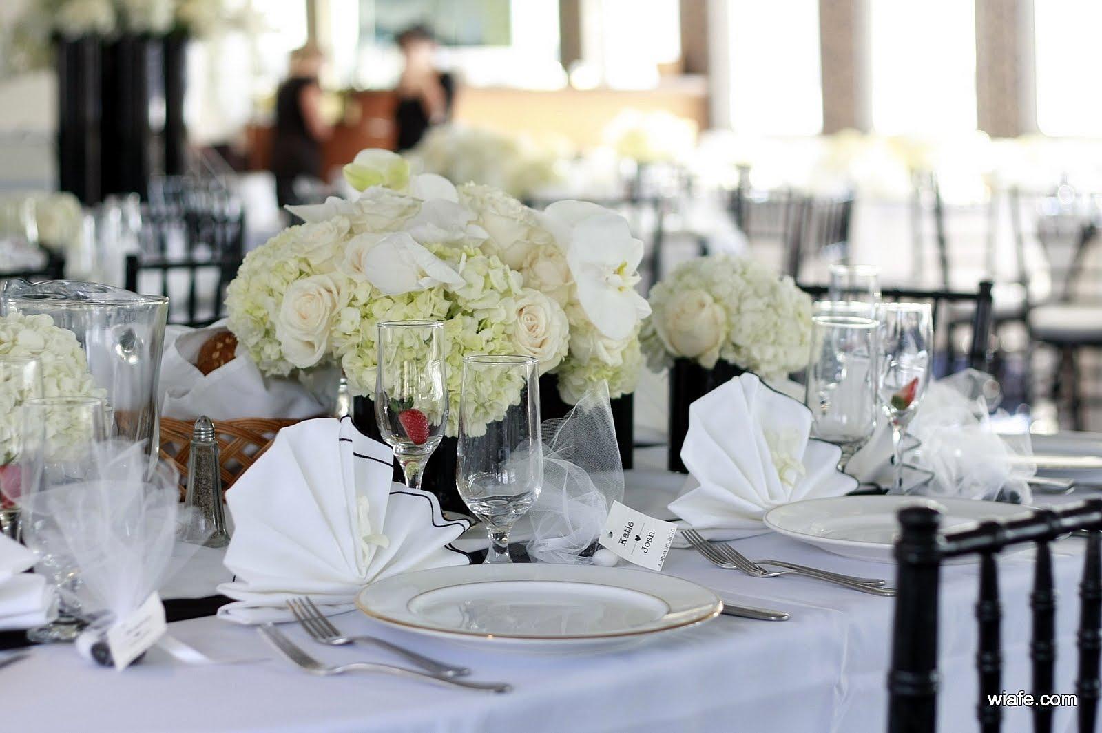 Сервировка столов для свадьбы фото