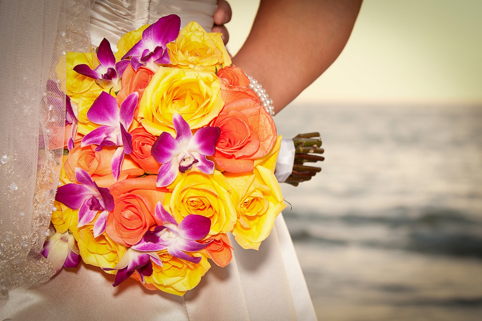 Orange Yellow And Purple Wedding Flowers Flowers Healthy
