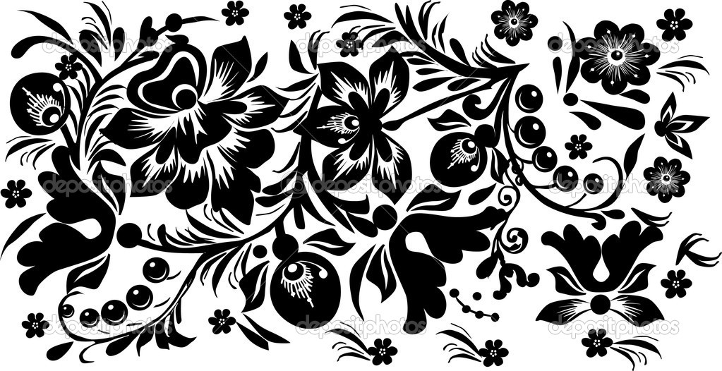 Black and white flower designs flowers ideas for review for Cool designs in black and white