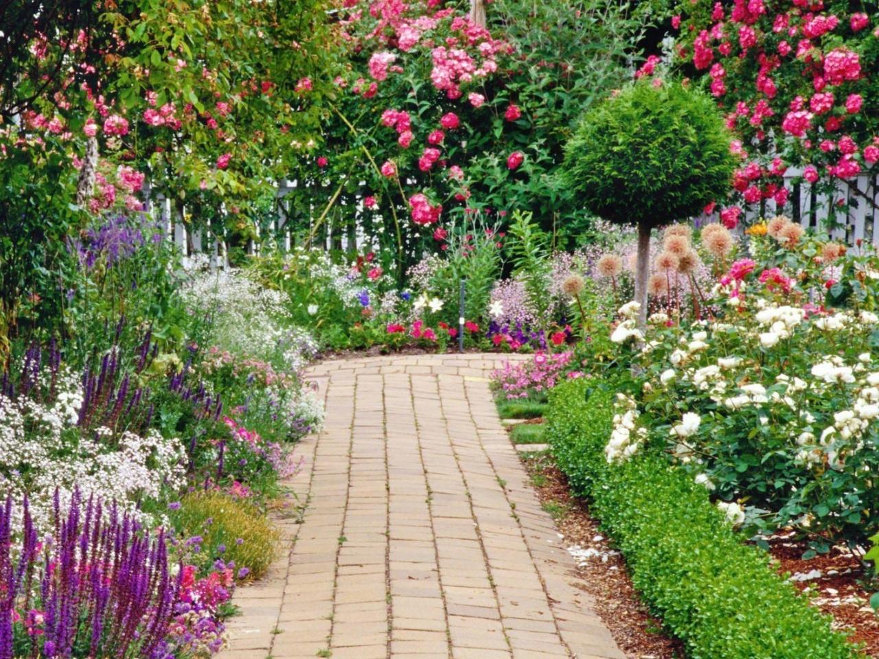 Flower Garden Wallpaper green flowers garden 10 free hd wallpaper - hdflowerwallpaper