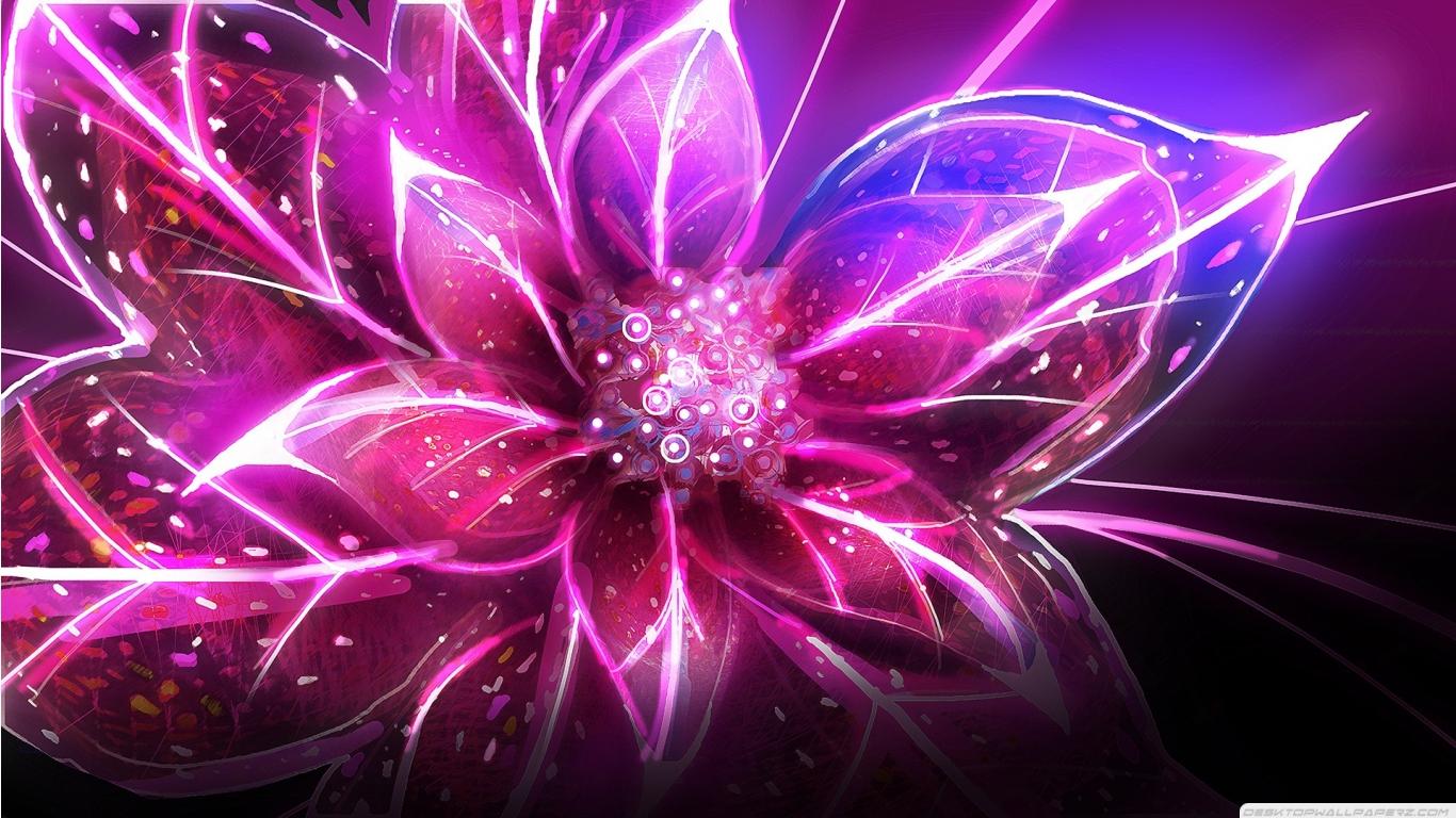 Purple Flowers Painting 23 Desktop Background Hdflowerwallpaper