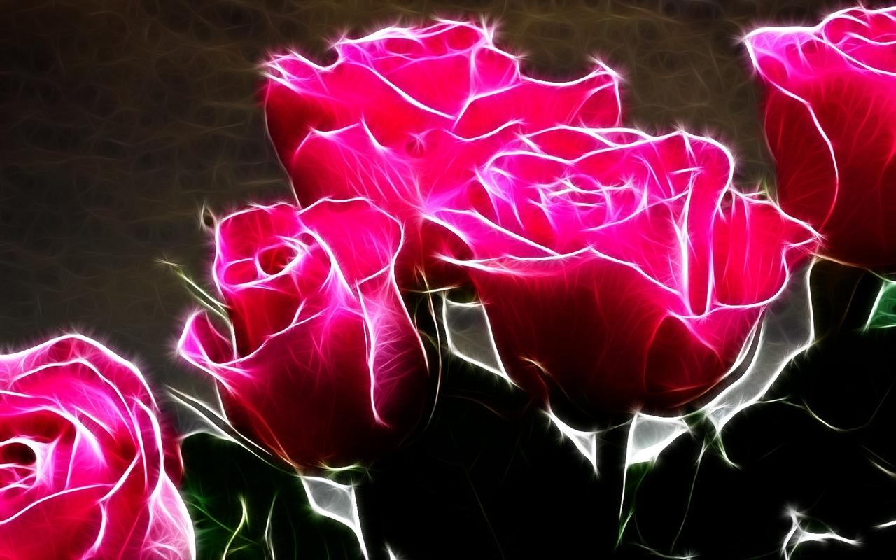 3d red roses wallpaper 1 free hd wallpaper - hdflowerwallpaper