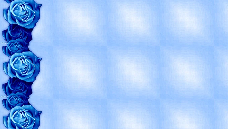 Blue bathroom wallpaper border - Blue Rose Wallpaper Border 11 Free Wallpaper