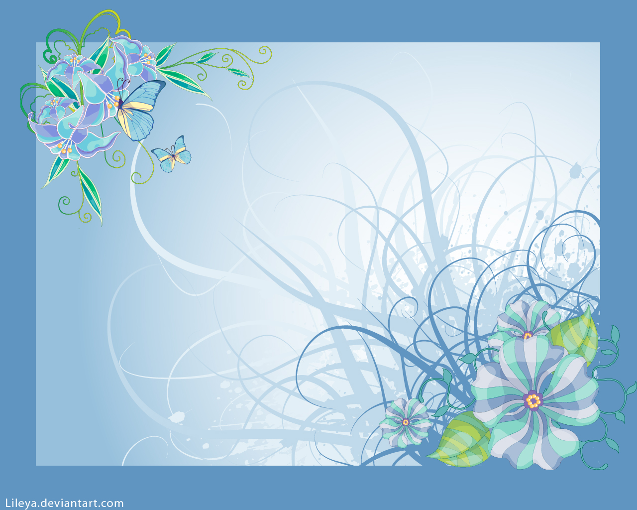 Flower Wallpaper Border 14 Desktop Wallpaper