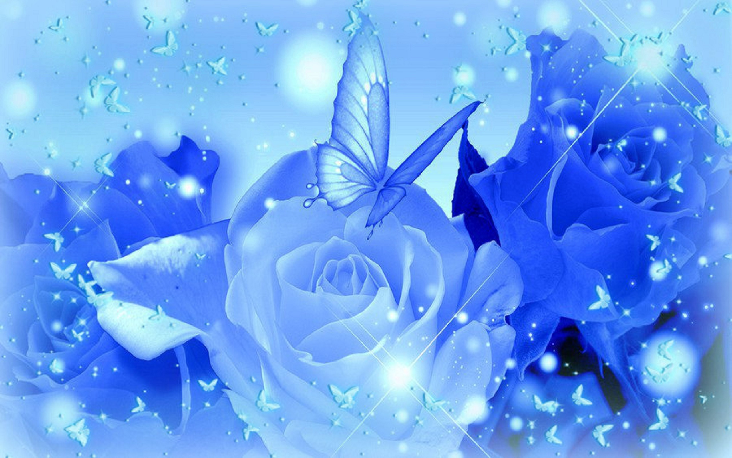 Light Blue Roses Wallpaper 3 Free Wallpaper ...