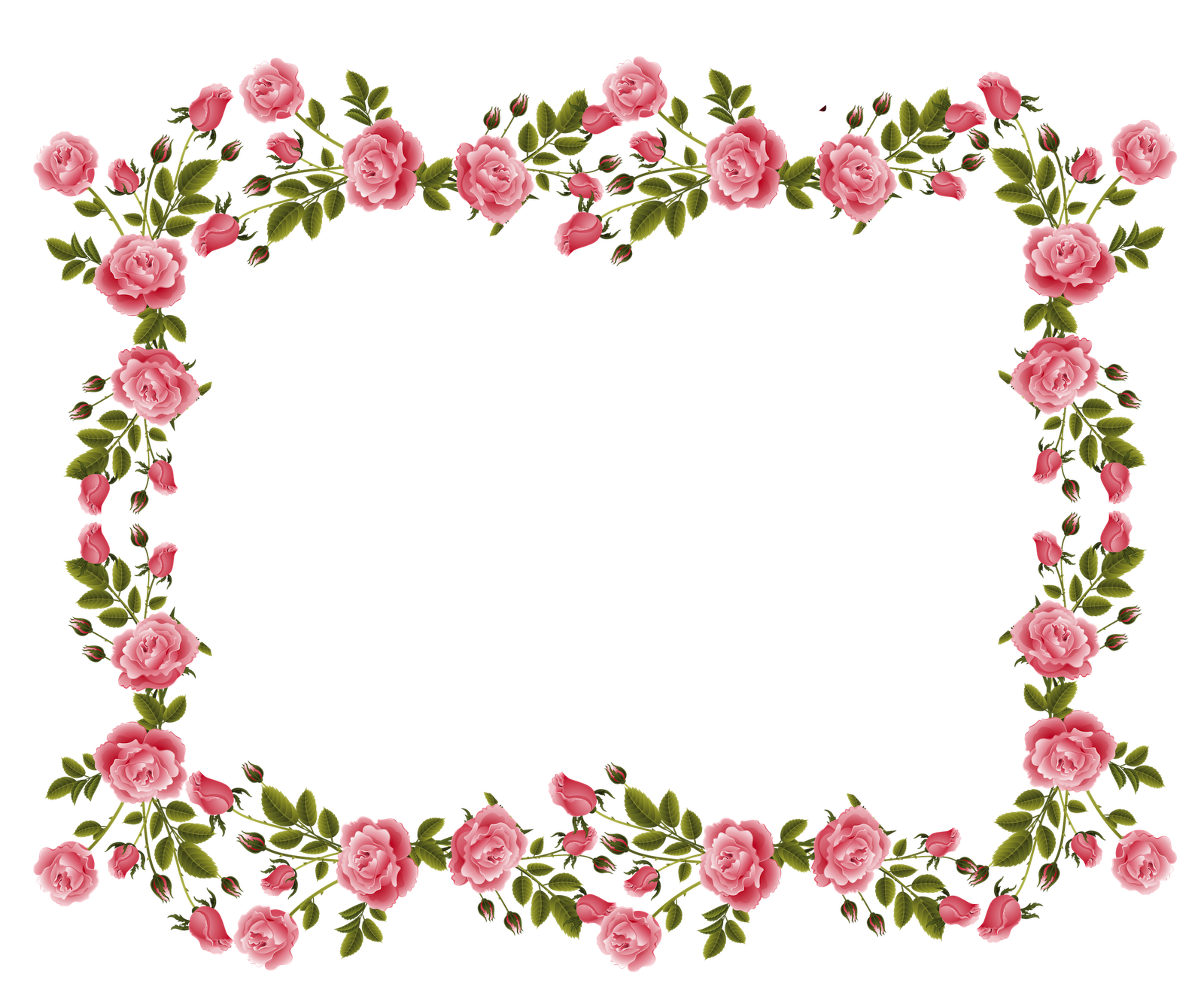 Pink flower border png the image kid for Wallpaper and borders