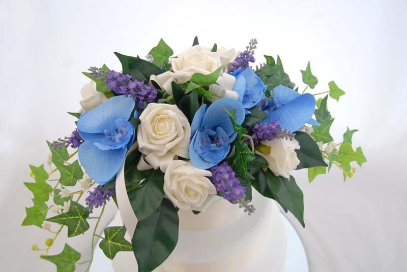 Blue Flower Arrangements 13 Wide Wallpaper - HdFlowerWallpaper.com