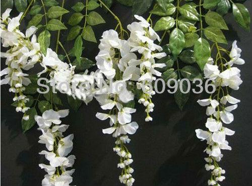Cheap white rose artificial flower bush 22 cool hd for Cheap white wallpaper