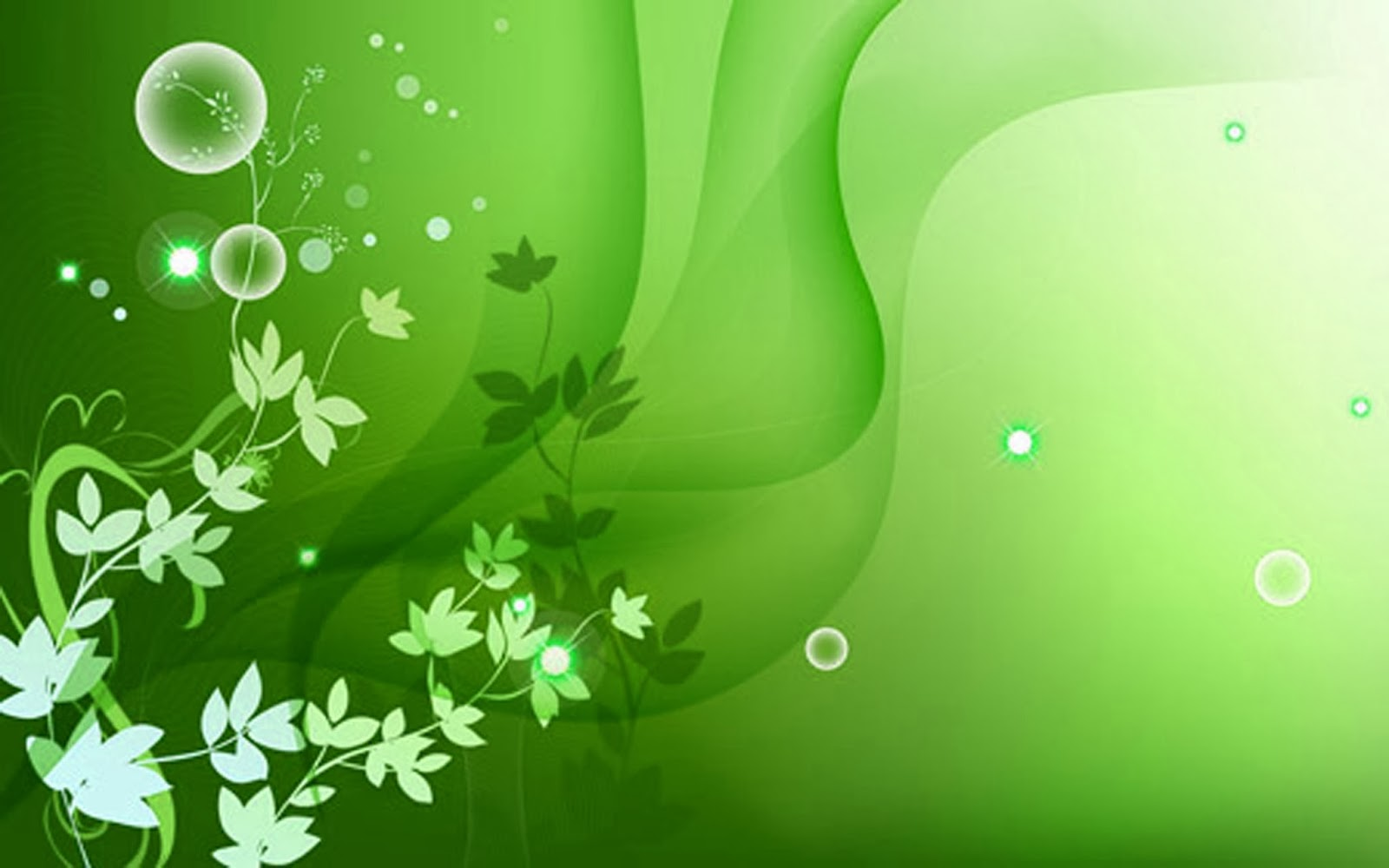 Green Colour Flowers 5 Background - HdFlowerWallpaper.com