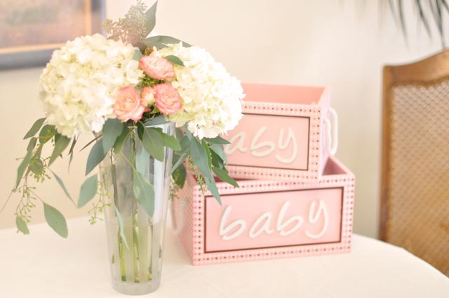 Flower Diaper Cake Centerpiece