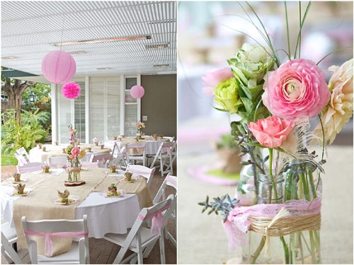 Pink Flower Arrangements For Baby Shower Free Wallpaper