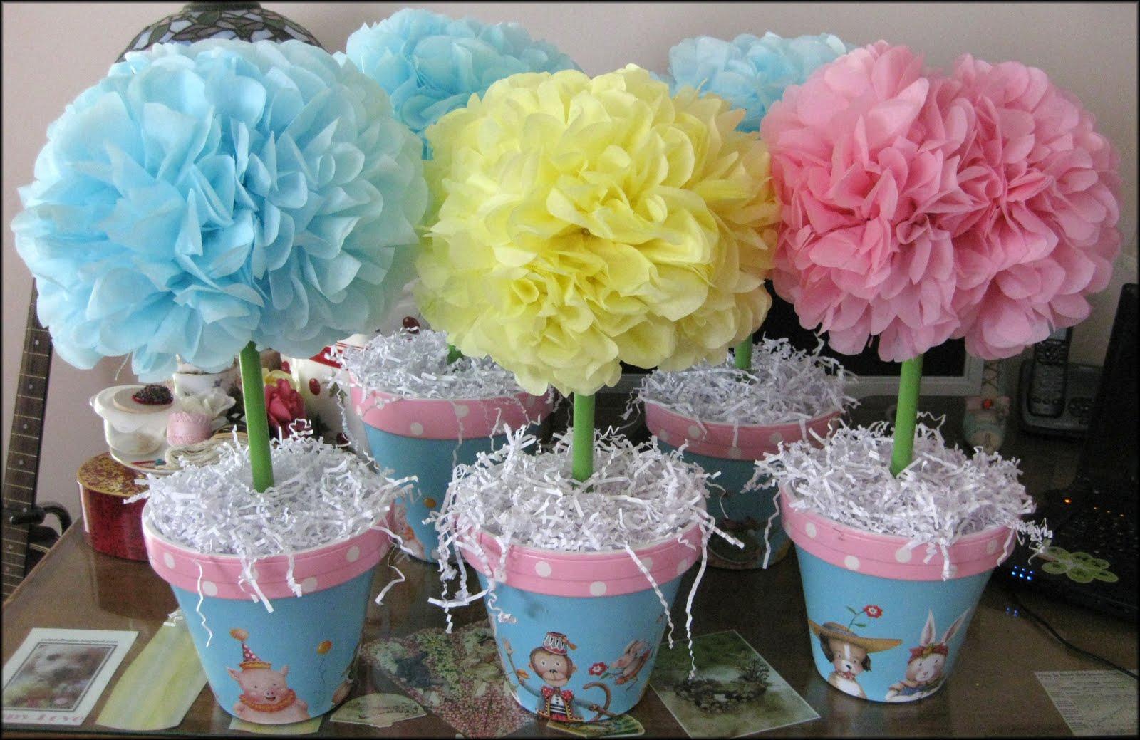 Pink flower arrangements for baby shower free hd