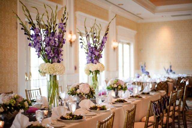 Purple flower arrangements centerpieces free hd